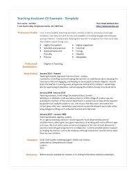 Teaching Assistant Cv Example Resume Samples For Teachers Assistant 10 Cv Samples With Notes And