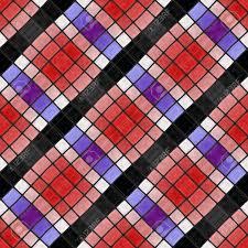 Blauw Rood Paars Zwart Wit Geblokte Diagonaal Naadloze Mozaïek