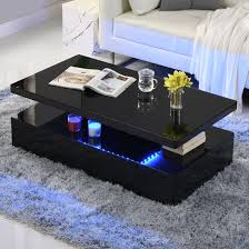 quinton modern coffee table in black