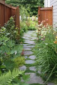 flagstone sidewalk ideas. flagstone garden path for a narrow side yard or path. sidewalk ideas
