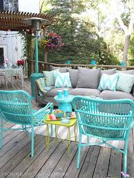 patio furniture design ideas. my deck makeover reveal house of turquoise outdoor patio decoratingoutdoor furniture design ideas