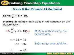 holt mathematics lesson 2 8 solving two step equations jennarocca