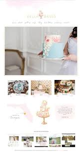 Wix Website Template Cake Website Template By Sunnyblossomdesigns