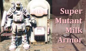 Milk Vending Machine Fallout 4 Stunning Someone Made A Super Mutant Milk Armour Fo48