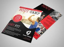 Boot Camp Fitness Promo Flyer Template | Mycreativeshop