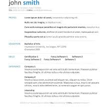 Microsoft Works Resume Templates