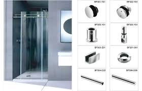 china customized sliding glass shower door hardware for decoration china bathroom fitting shower cabin accessories