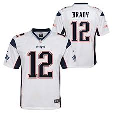 Patriots Tom Mid-tier New Brady Nfl England Jersey Road White Youth