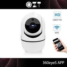 QZT Camera An Ninh WIFI Giám Sát Trong Nhà Tầm Nhìn Ban Đêm Cho Bé Màn Hình  360 ° IP Gia Camera WIFI Dome Chó Camera Màn Hình cho Gia Đình