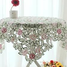 side table tablecloth vintage granny round
