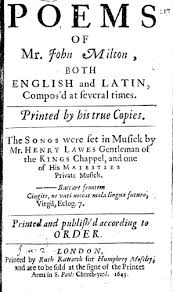 How To Title A Poem Poems 1645 Title Page