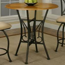 round oak veneer wood top counter height table by cramco inc