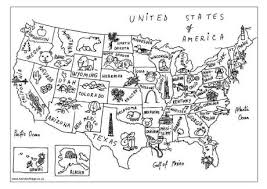 Small Picture USA Map Colouring Page
