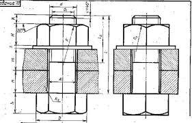 Курсовая работа по дисциплине Инженерная графика Студопедия Разработка чертежа болтового соединения