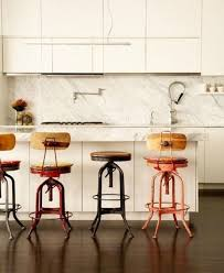 mismatched bar stools.  Bar Unexpected Interest Mismatched Bar Stools  Apartment Therapy On T