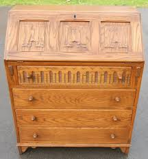 Light Wood Bureau Light Oak Writing Bureau Desk By Jaycee Sold
