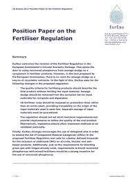 Global warming is an international problem of growing importance. Eureau Resources Position Papers
