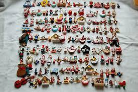 Vintage 150 Stück Holzfiguren Weihnachtsbaumschmuck