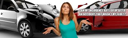 How much is your rate based on a record of safe driving? Can My Car Insurance Rate Go Up After An Accident That Wasn T My Fault