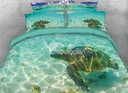 65 onlwe 3d turtle in the blue limpid ocean printed 4 piece bedding sets duvet