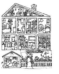 Coloring Page Of A House Coloring Page House Free Coloring Pages Of