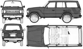 Toyota Land Cruiser Suv Blueprints Free Outlines