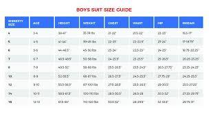 Boys Suit Size Chart
