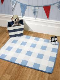 children s nursery rug gingham blue tap to expand