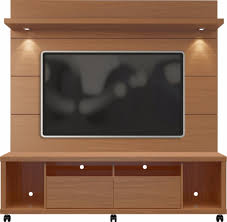 manhattan comfort 2 1545482254 cabrini tv stand floating wall tv panel w led lights 1 8 in maple cream off white