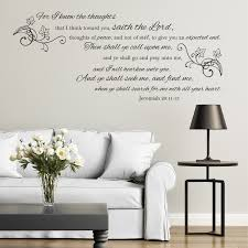 jeremiah 29 11 13 for i know the plans wall decal kjv