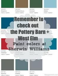 E Pottery Barn Paint Colors Benjamin Moore  2013