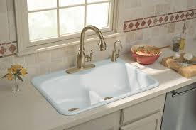 Kitchen Beautiful Copper Kitchen Sinks Lowes With Gold Metal