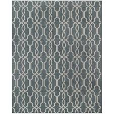 home decorators collection kingston geo smoke blue ivory 2 ft x 3 ft