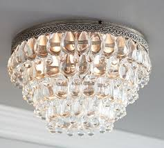 clarissa crystal drop extra large flushmount pottery barn within flush mount chandelier plans 13