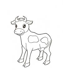 Tranh tô màu con bò