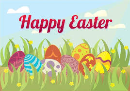 Easter Egg Hunt In The Grass Background Vector Stock