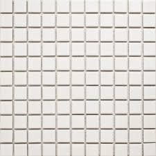 mosaic shiny white 25x25