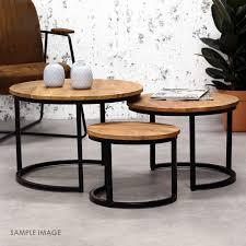 moorni nested round coffee tables set 3