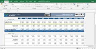 Profit And Lost Statement Profit And Loss Statement Template Free Excel Spreadsheet 14