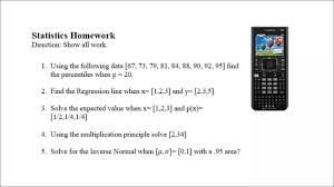 statistics homework step by step using the ti nspire statistics homework step by step using the ti nspire
