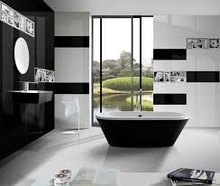 bathroom tiles black and white. Beautiful Black Bathroom Modern Tiles Black And White 7  L
