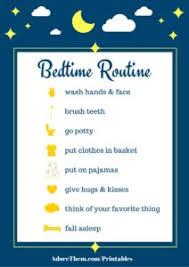 Free Printable Sleep Charts Simple Bedtime Routine Chart Printable Adore Them