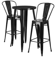 table and chairs png. flash furniture 24\u0027\u0027 round metal indoor-outdoor bar table set w/ 2 and chairs png