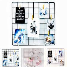metal mesh grid panel decor photo