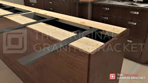 support for granite countertop overhangs awesome com kitchen island bracket 40 inch home improvement with regard to 8