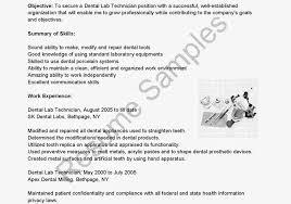 adorable dental lab technician resume sample proffesional laboratory technician resume sample