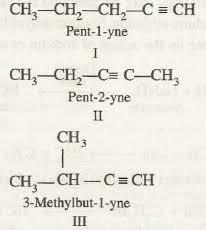 Image result for position isomer of 1-pentyne