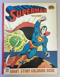 Want to know all of superman's villains. Superman Giant Story Coloring Book The Legend Super Powers Unused 22 X 17 1984 Ebay
