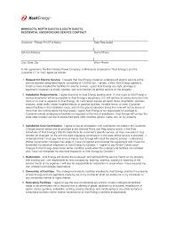 Xcel Energy Customer Service Residential Service Contract Templates At