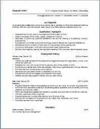Resume Sample for Waiter Position New Restaurant Waiter Resume Sample] Waitress  Resume Objective Samples